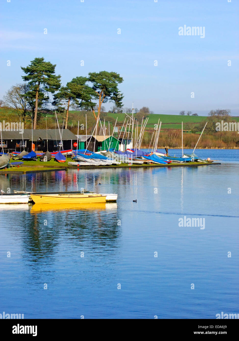 Barnt Green Sailing Club, Upper Bittell Reservoir, Cofton Hackett, Worcestershire, England, UK - Stock Image