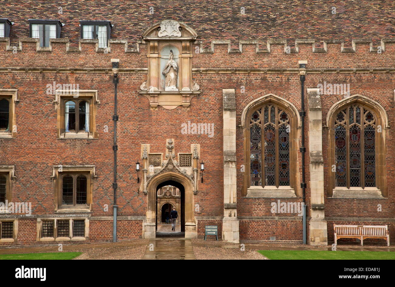 In St John's College, Cambridge, UK. - Stock Image