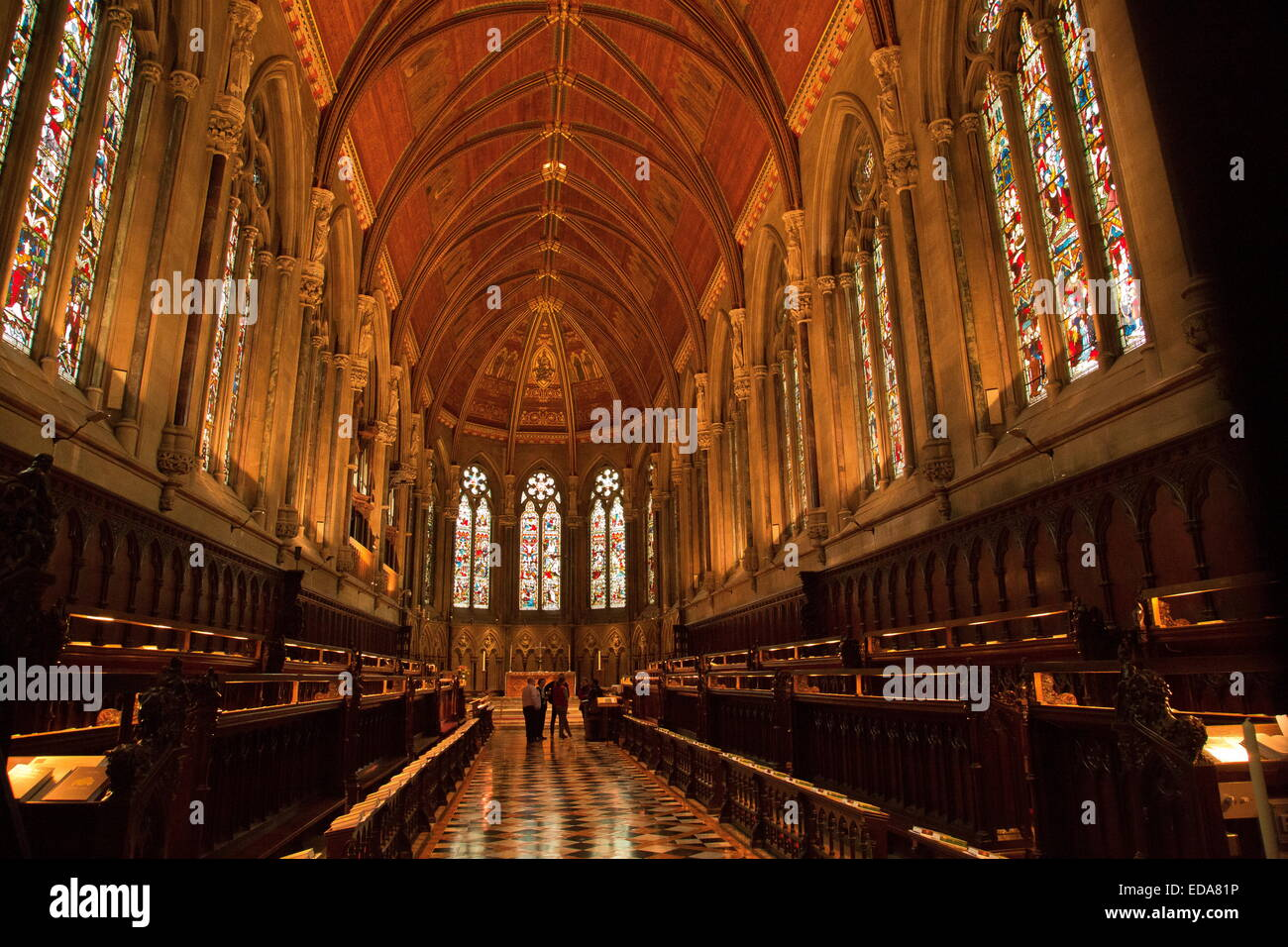 The interior of the chapel at St John's College, Cambridge, UK. - Stock Image