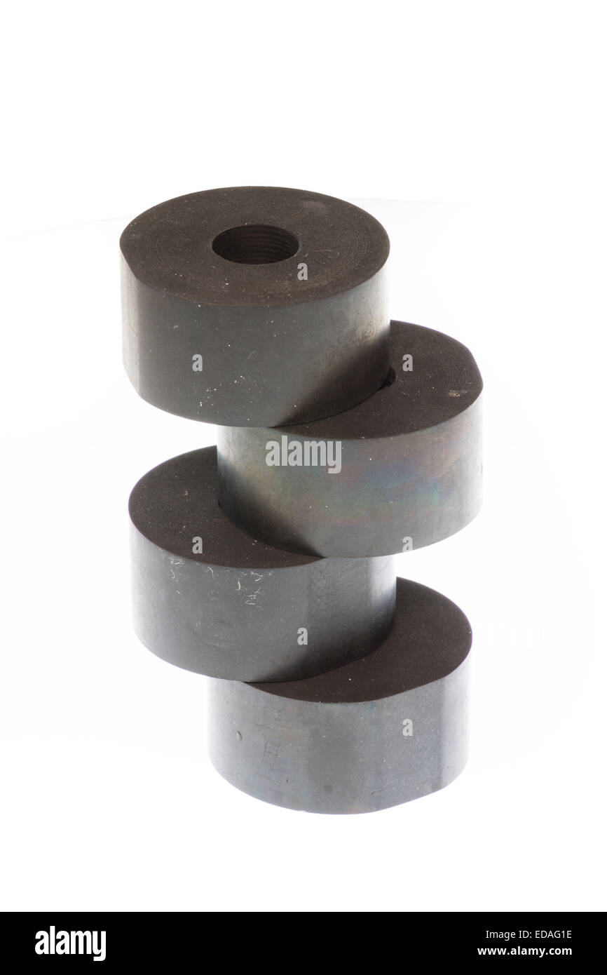 Rubber spacers strong for machinery industrial - Stock Image