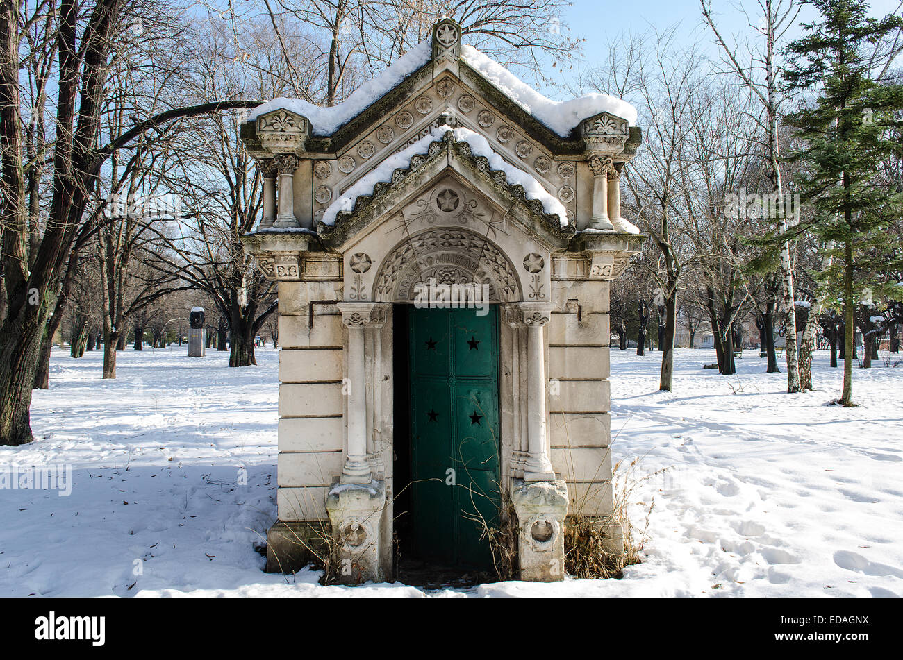 Small mausoleum in a historic Ivancho Mihailov Rousse Bulgaria Stock Photo