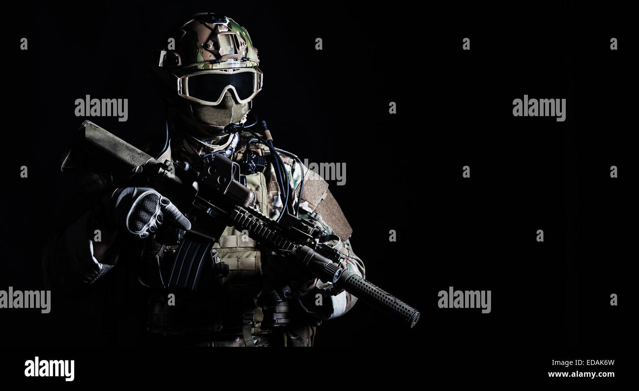 Special forces soldier - Stock Image