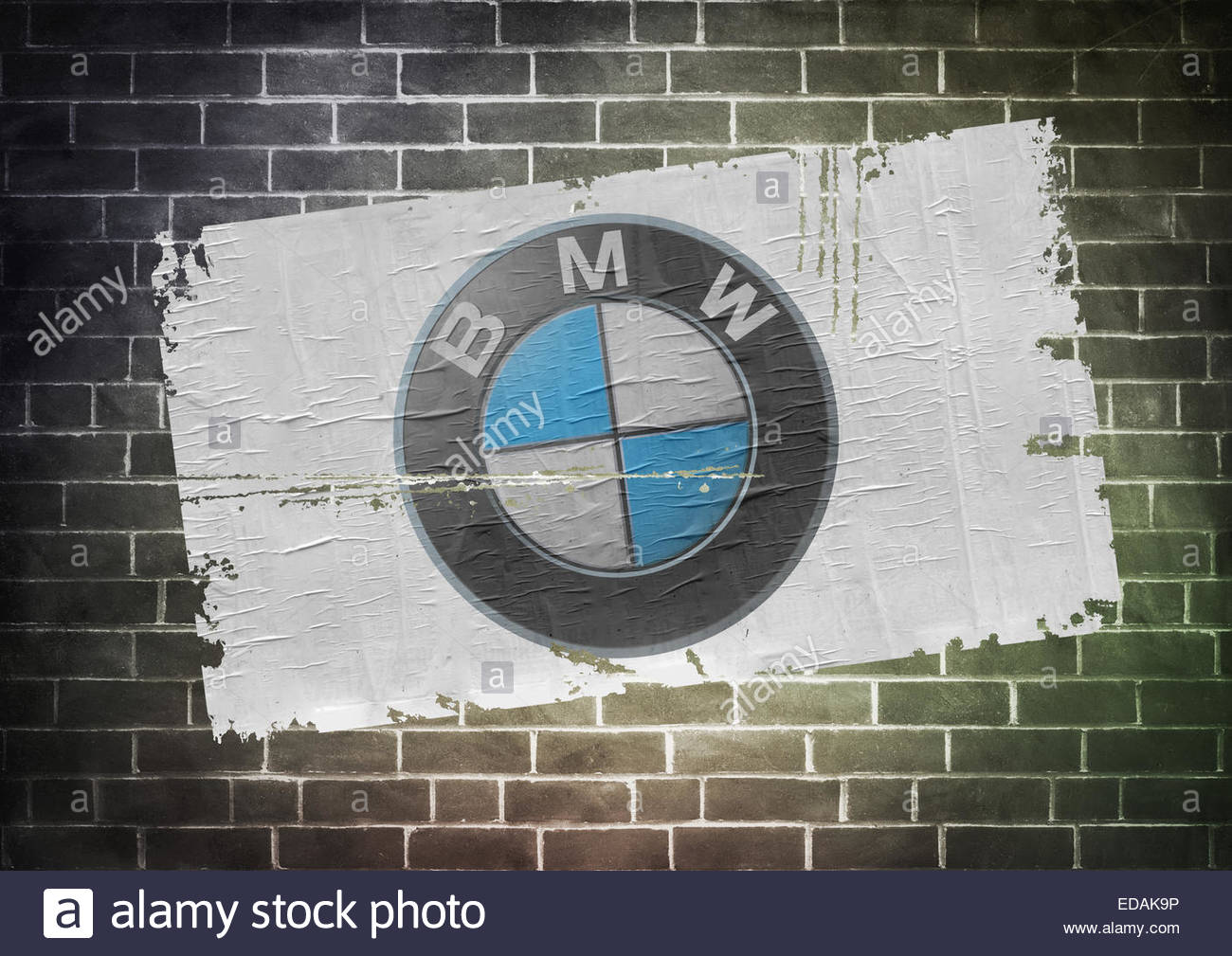 BMW logo icon poster Stock Photo