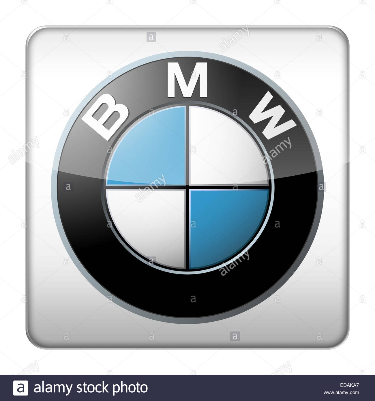BMW logo icon - Stock Image