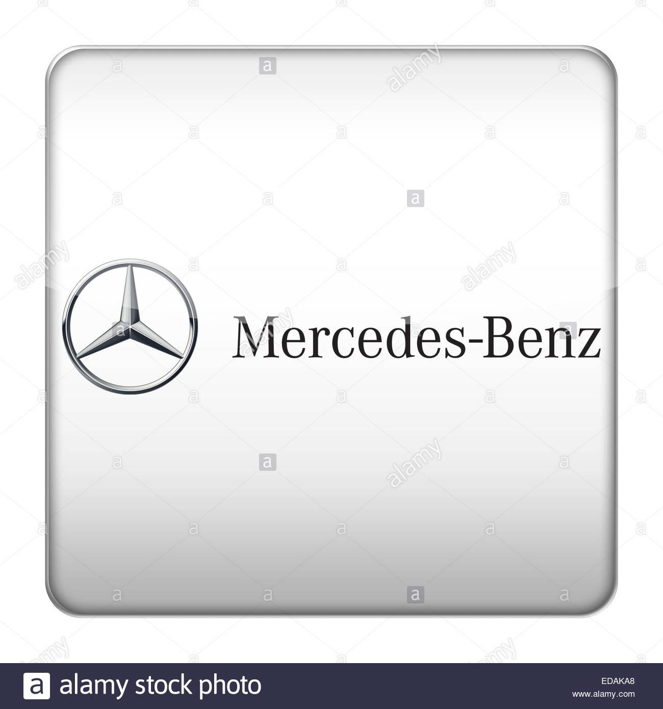 Mercedes Benz logo icon - Stock Image