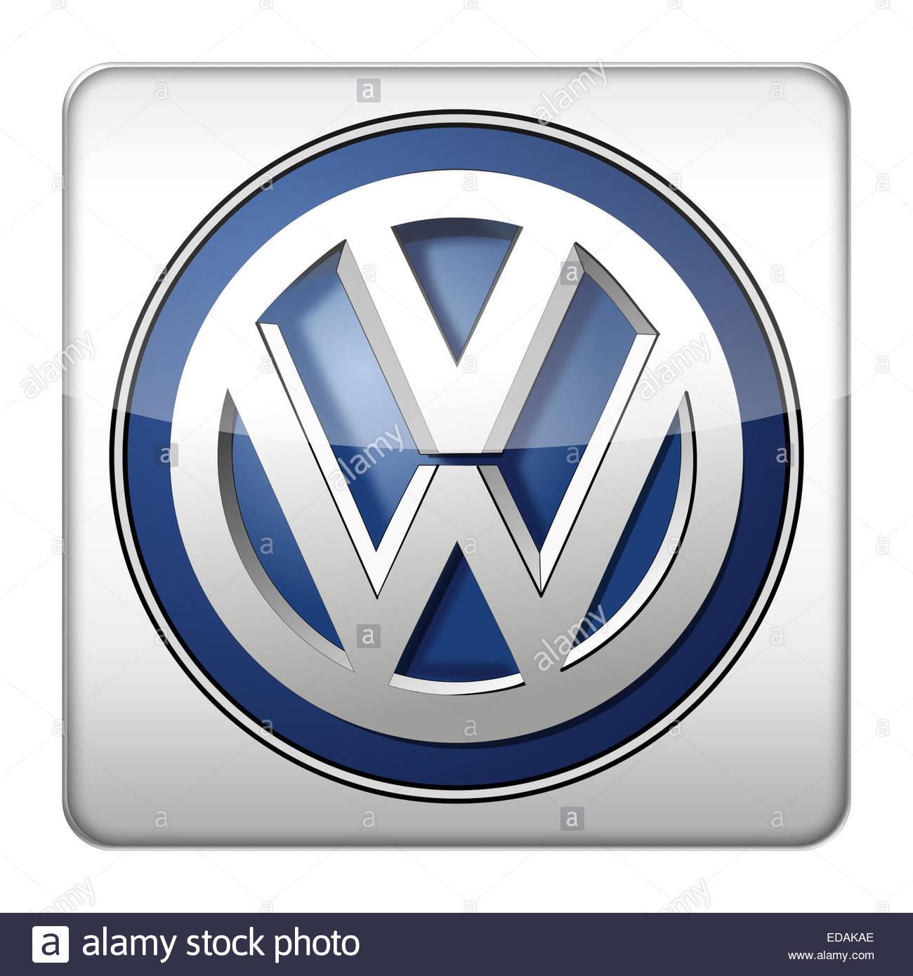 VW Volkswagen logo icon - Stock Image