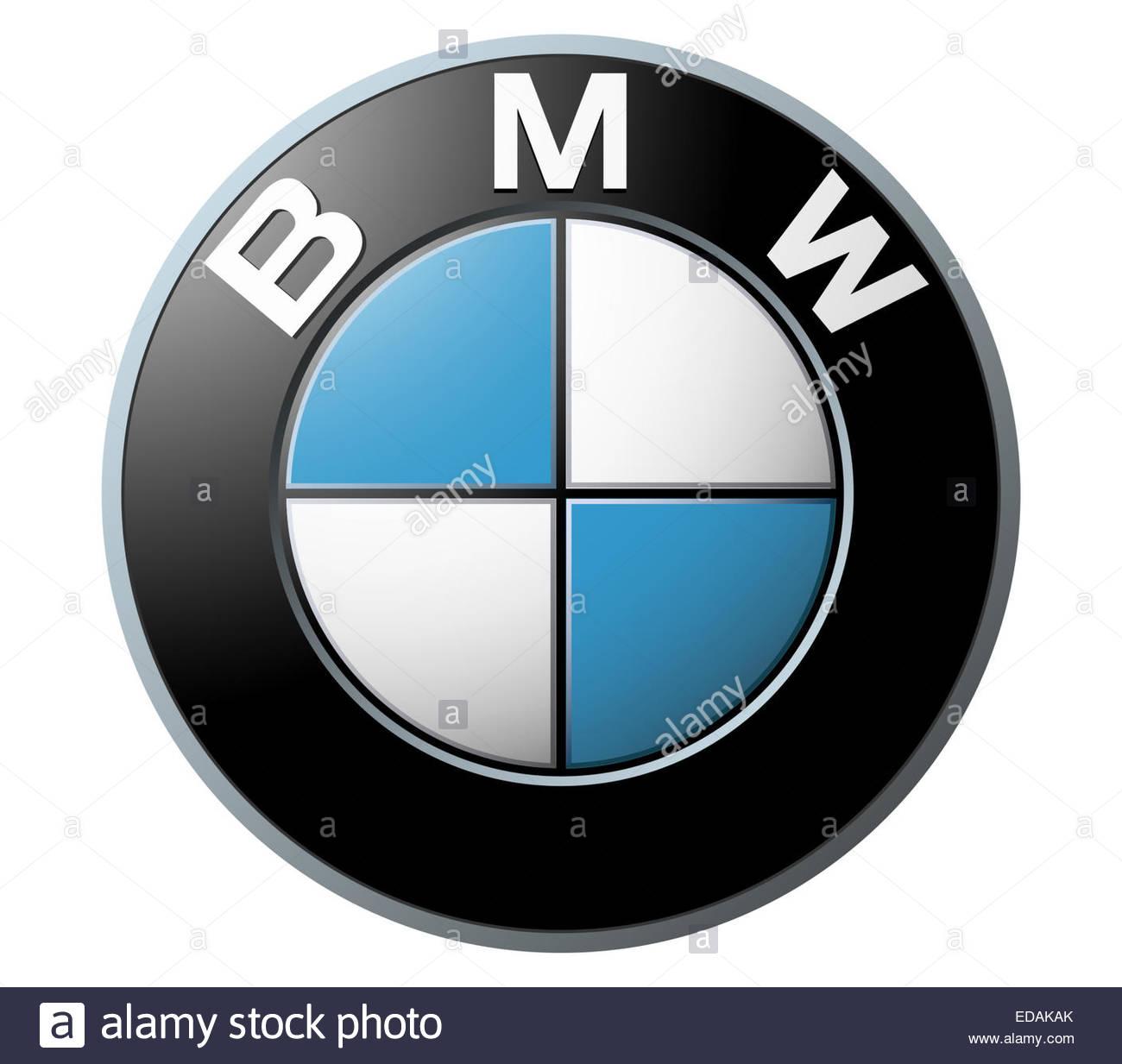BMW logo icon sign - Stock Image