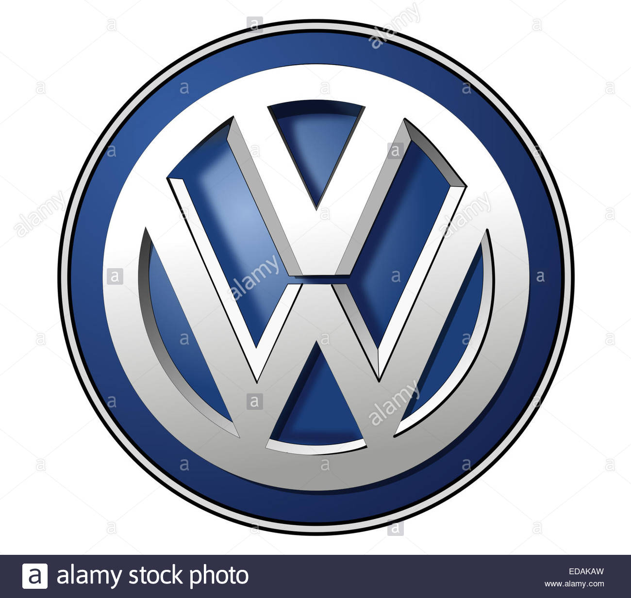 VW Volkswagen logo icon sign - Stock Image