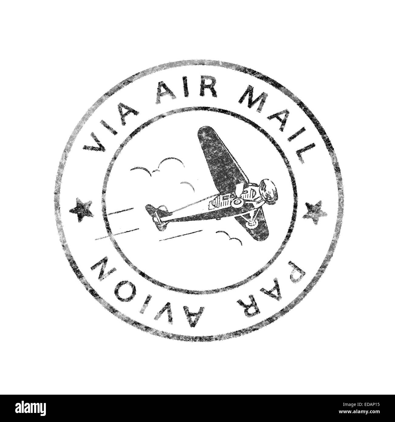 Historic Postmark Air mail / Par Avion, isolated - Stock Image