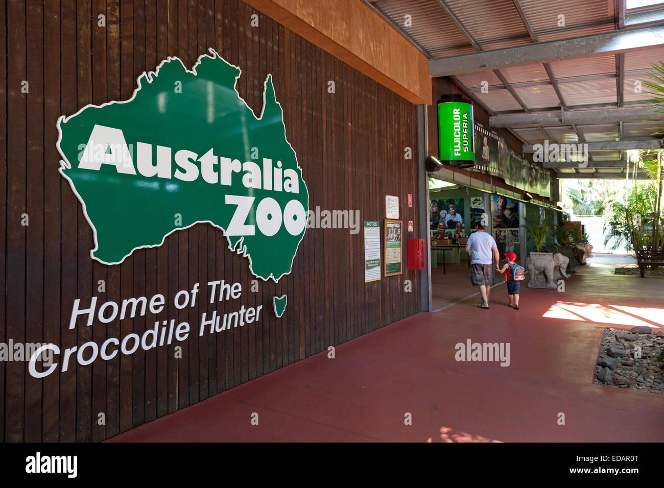 Entrance of the Australian Zoo, Beerwah,Australia - Stock Image