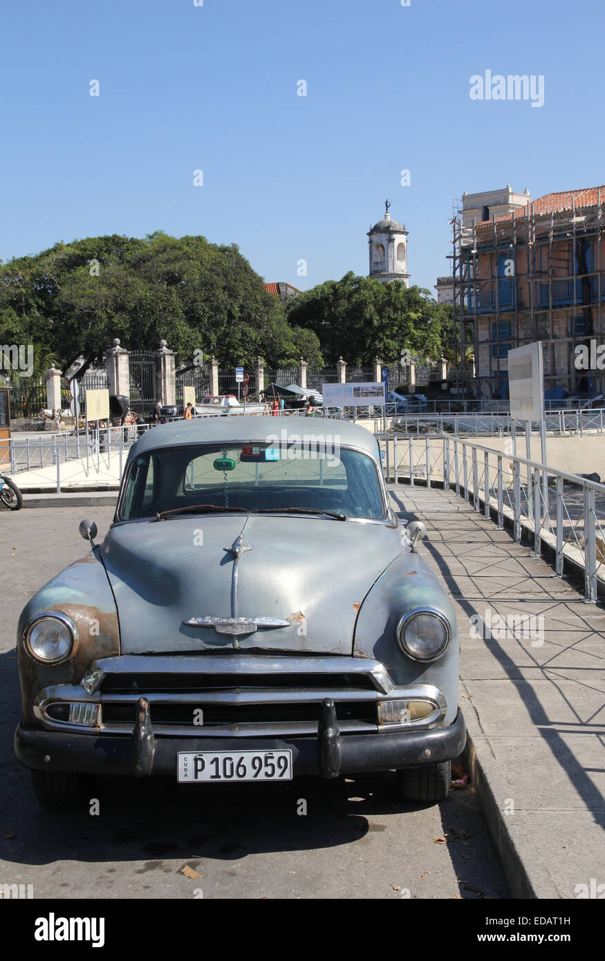 Old Car Havana Cuba - Stock Image
