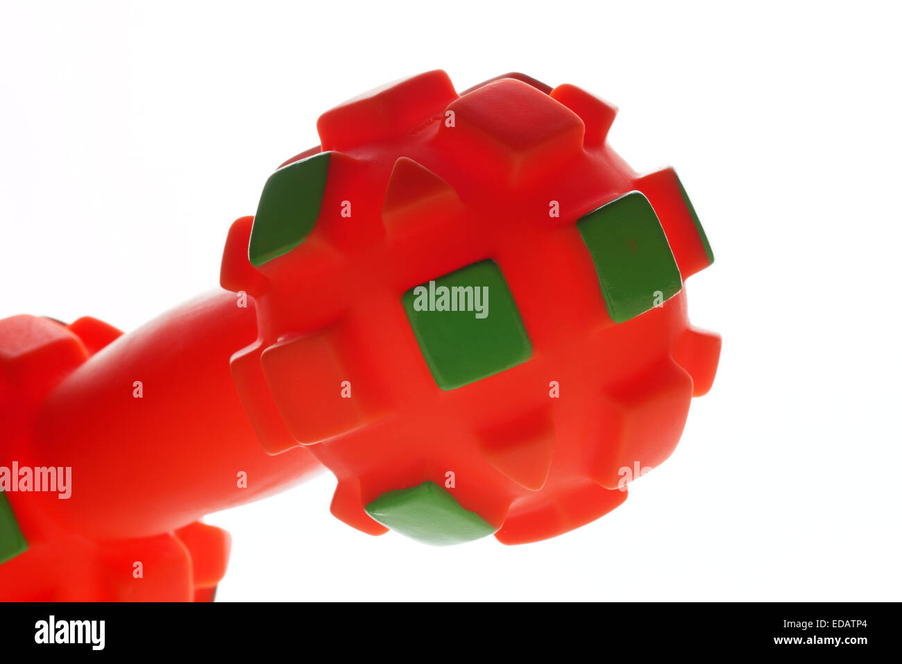 Close up of a plastic toy for dogs - Stock Image