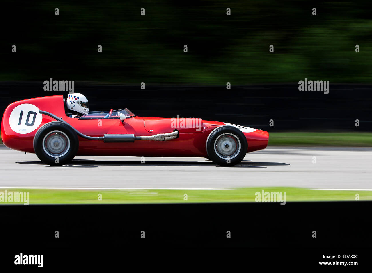 Gil Duffy drives his Bond FJ single seater at the 2013 Masters Historic meeting at Brands Hatch, 2013 - Stock Image