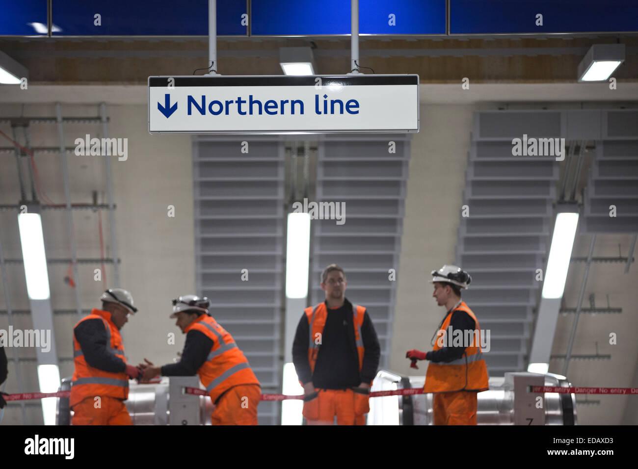 Tottenham Court Road Tube Station, redevelopment on the Northern Line segment of the London Underground, London, - Stock Image