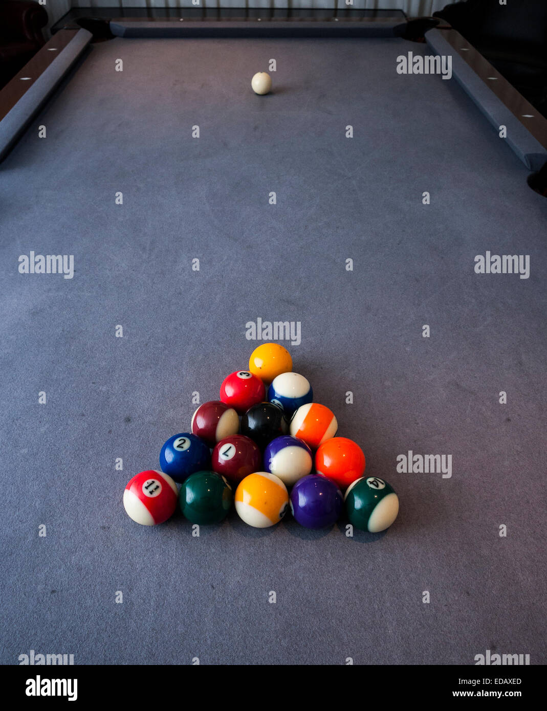 Pool Table Setup >> Pool Table Setup Stock Photo 77072309 Alamy