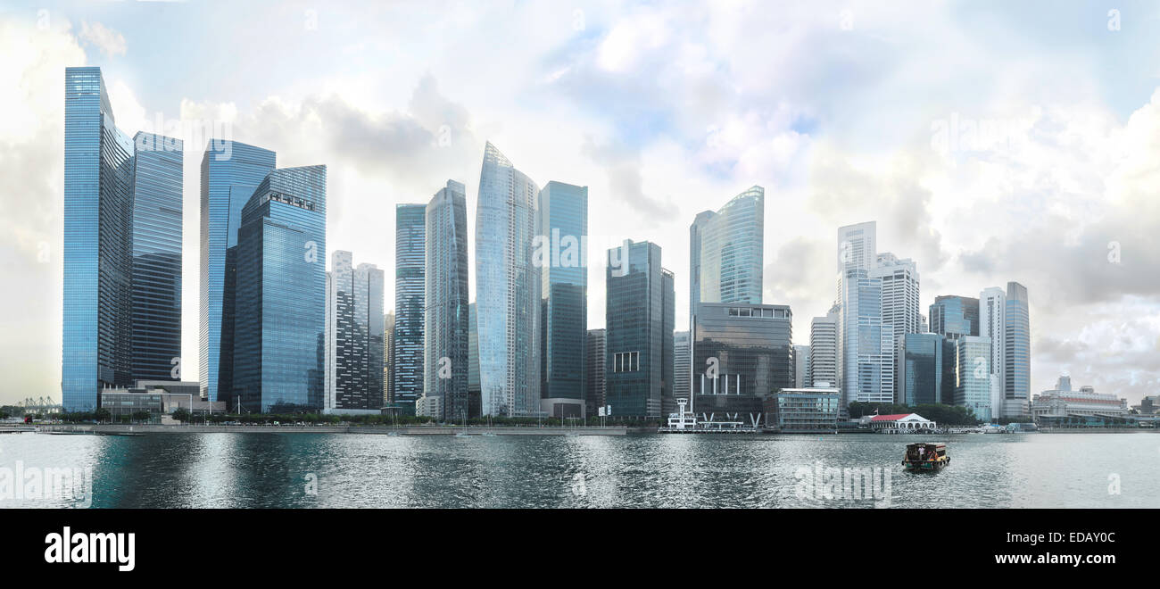 Singapore Downtown Core - modern financial district - Stock Image