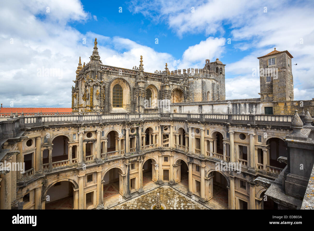 Knights of the Templar Convents of Christ Tomar, Lisbon Portugal - Stock Image