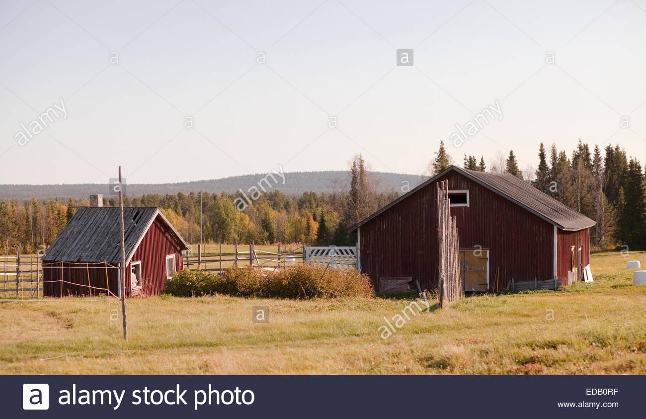 Raattama village in Lapland Finland - Stock Image