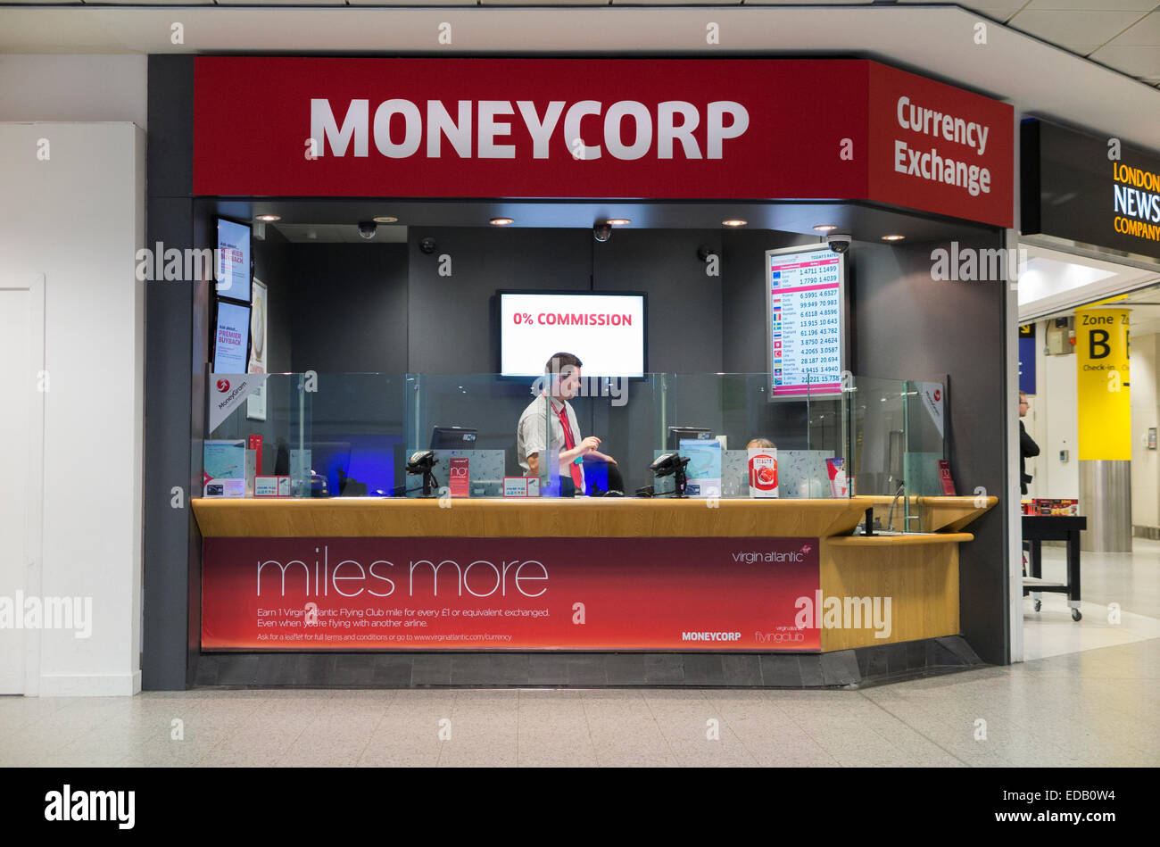 Bureau de change office operated by moneycorp south terminal gatwick stock photo 77074176 alamy - Gatwick airport bureau de change ...
