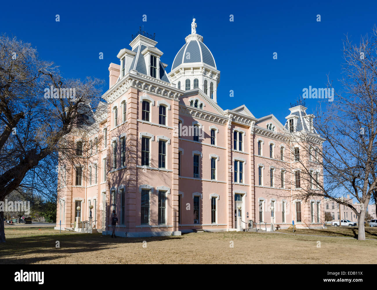 Presidio County Courthouse, Marfa, Texas, USA - Stock Image