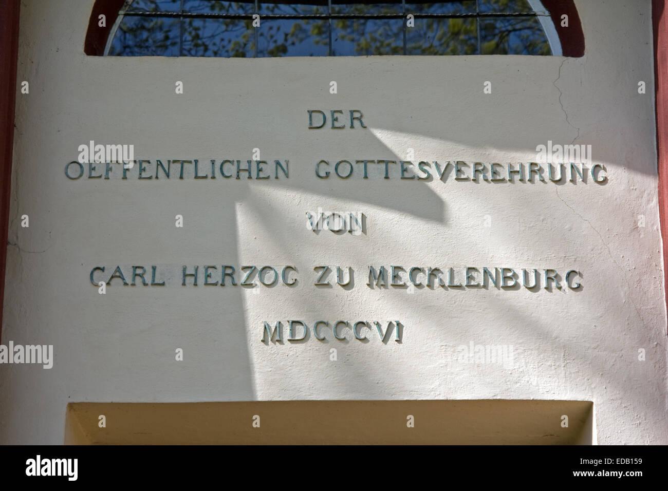 Europe, Germany, Mecklenburg-Western Pomerania Hohenzieritz, Hohenzieritz castle, castle chapel - Stock Image