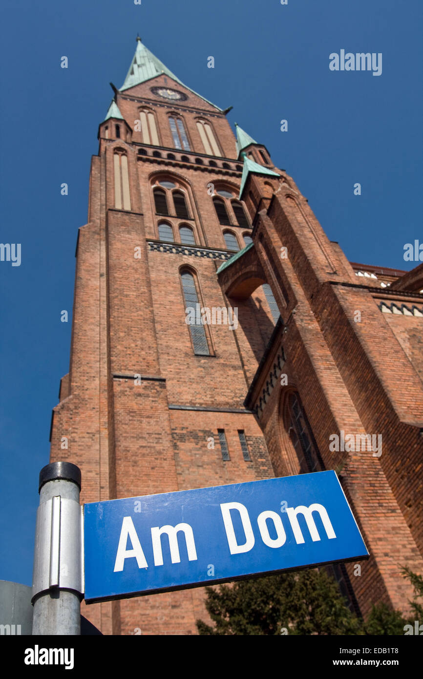 Europe, Germany,Mecklenburg Western Pomerania, Schwerin, Cathedral of St. Mary and St. John Stock Photo