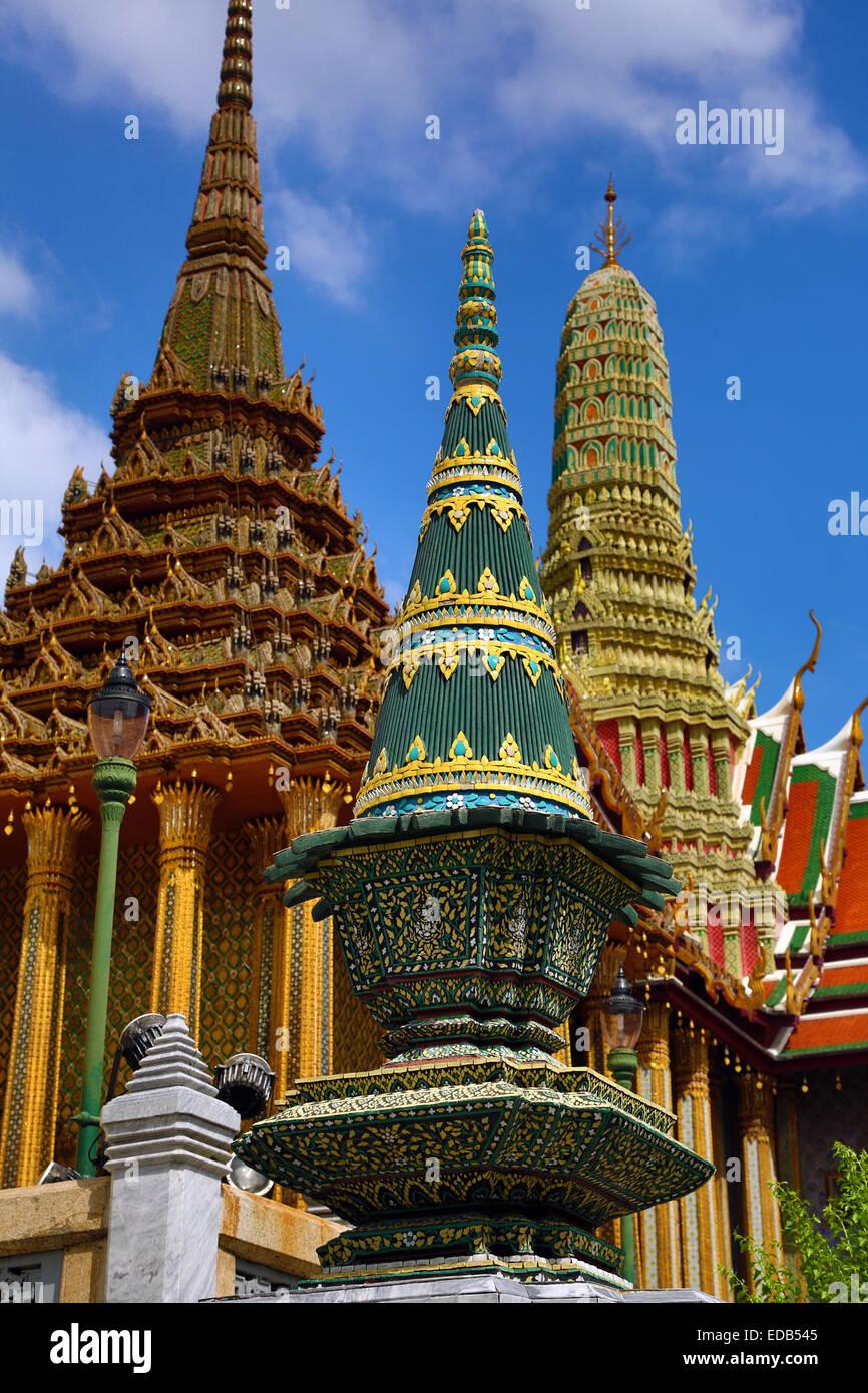 Wat Phra Kaew, Temple of the Emerald Buddha Complex, Bangkok, Thailand - Stock Image