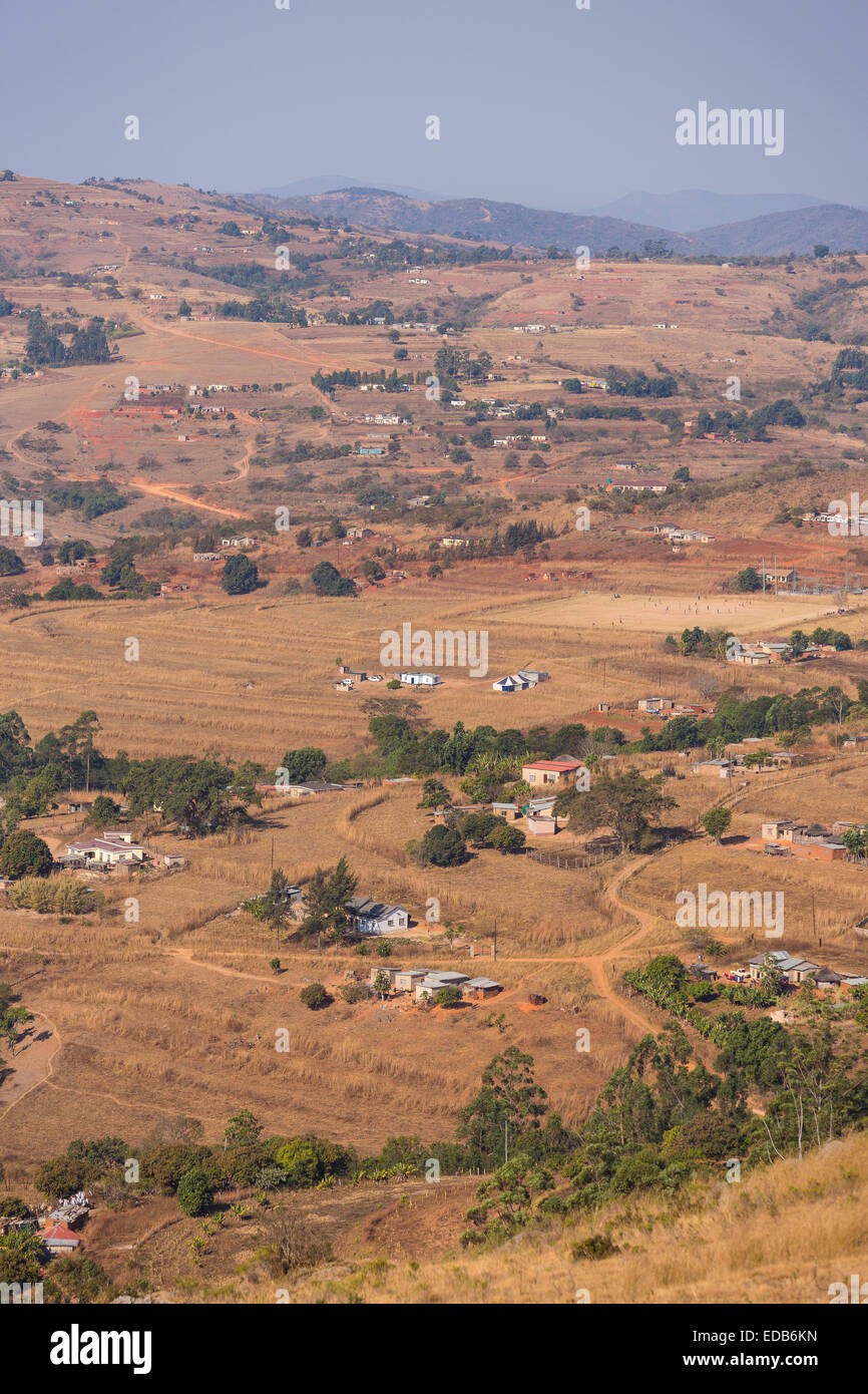 SWAZILAND, AFRICA - Rural settlement, agriculture, and homes. - Stock Image