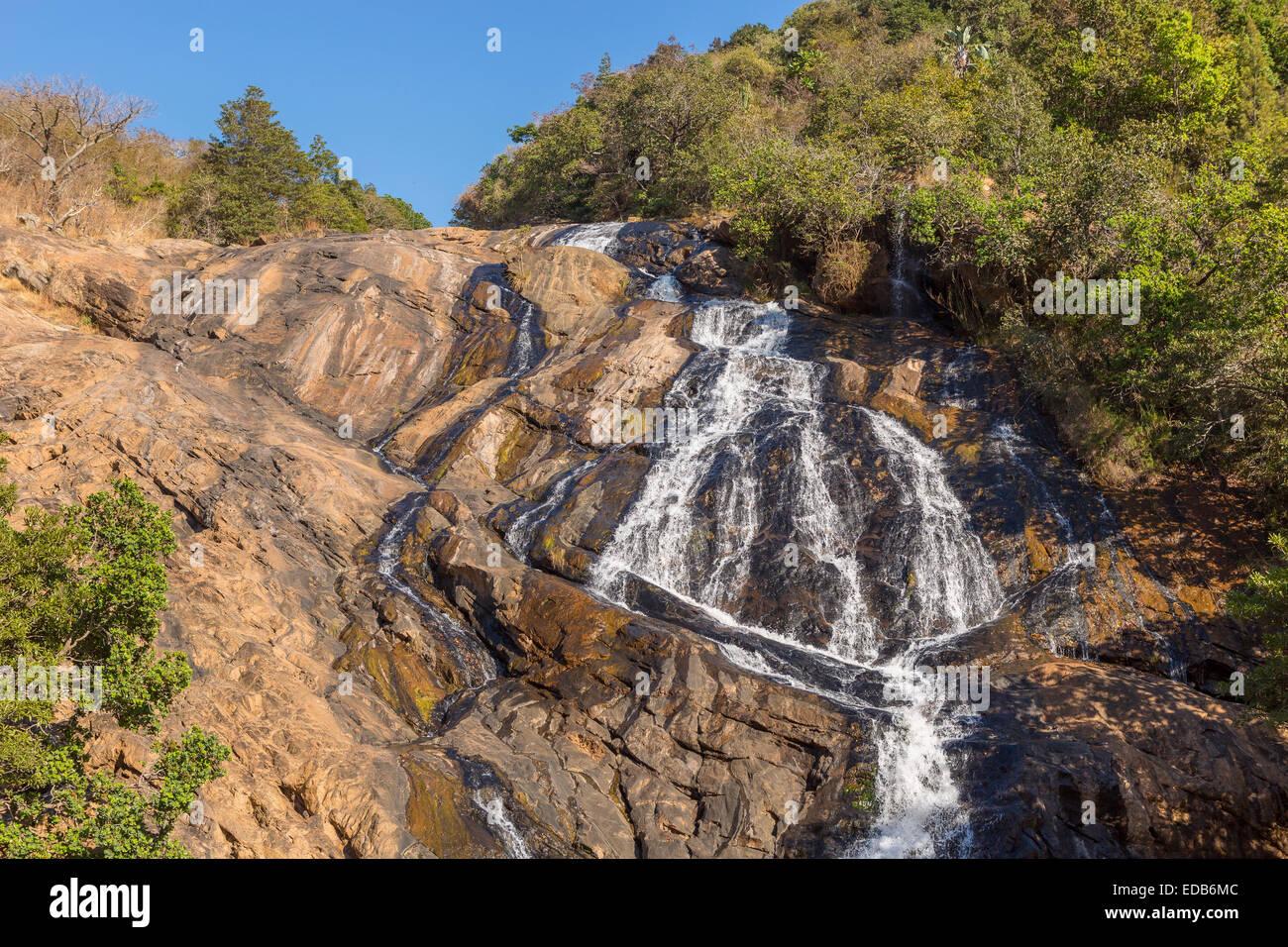 HHOHHO, SWAZILAND, AFRICA - Phophonyane Nature Reserve waterfall. Stock Photo