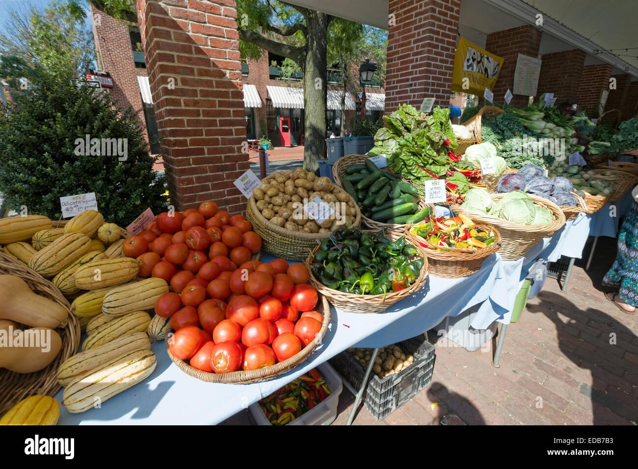 Farmers Market, Philadelphia, Pennsylvania - Stock Image