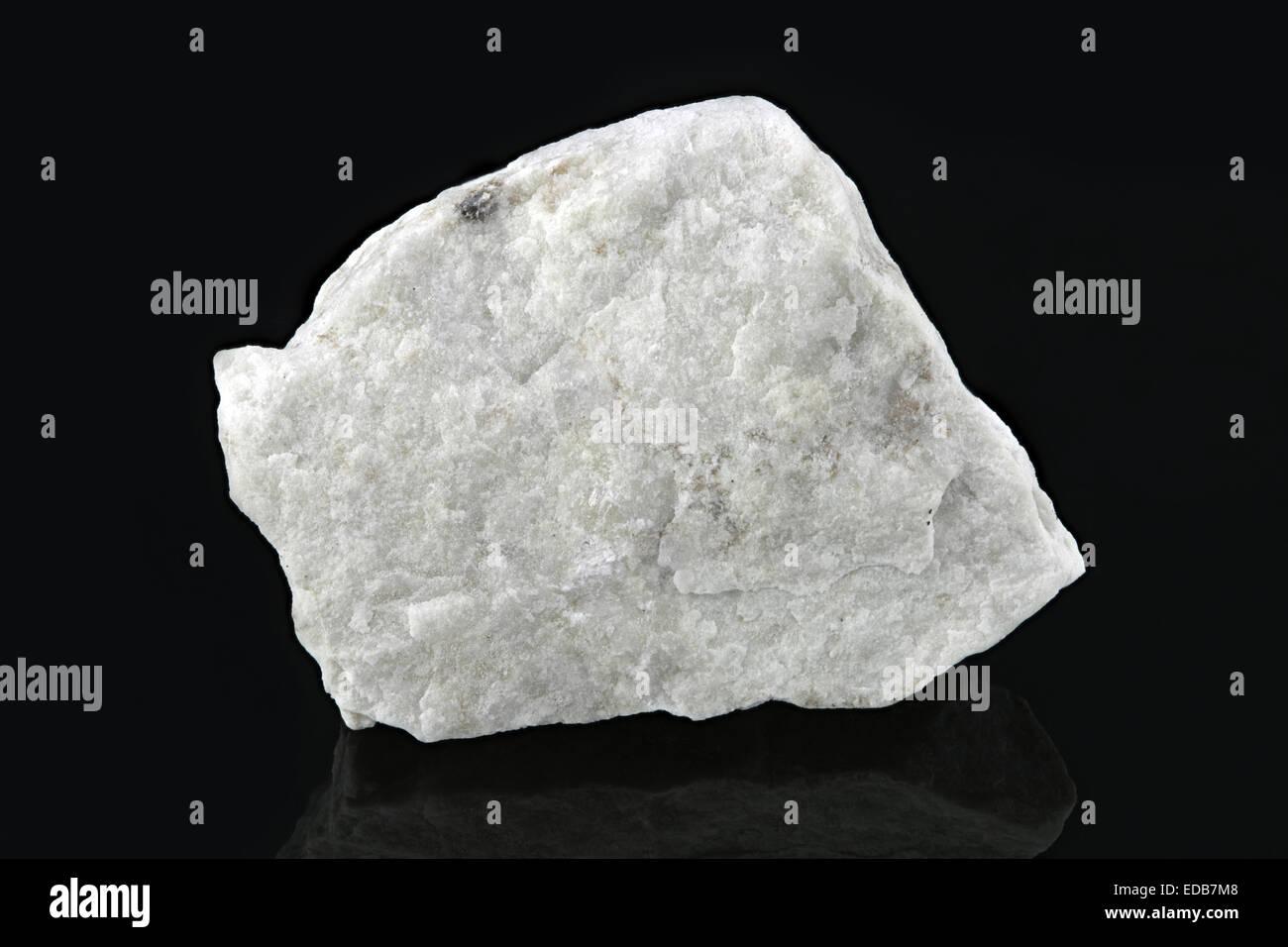 Magnesite, MgCO3 (magnesium carbonate) rock sample - Stock Image