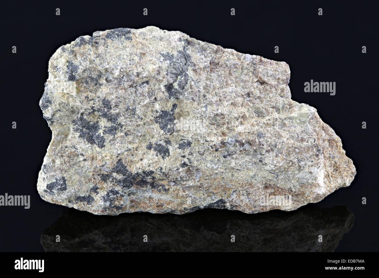 Manganese Ore rock sample - Stock Image