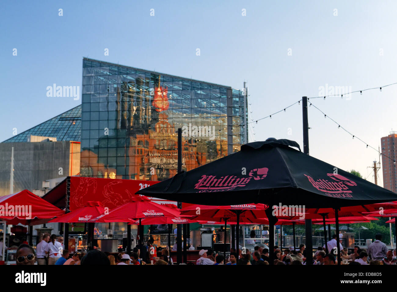 Outdoor Dining At The Phillips Seafood Restaurant Power