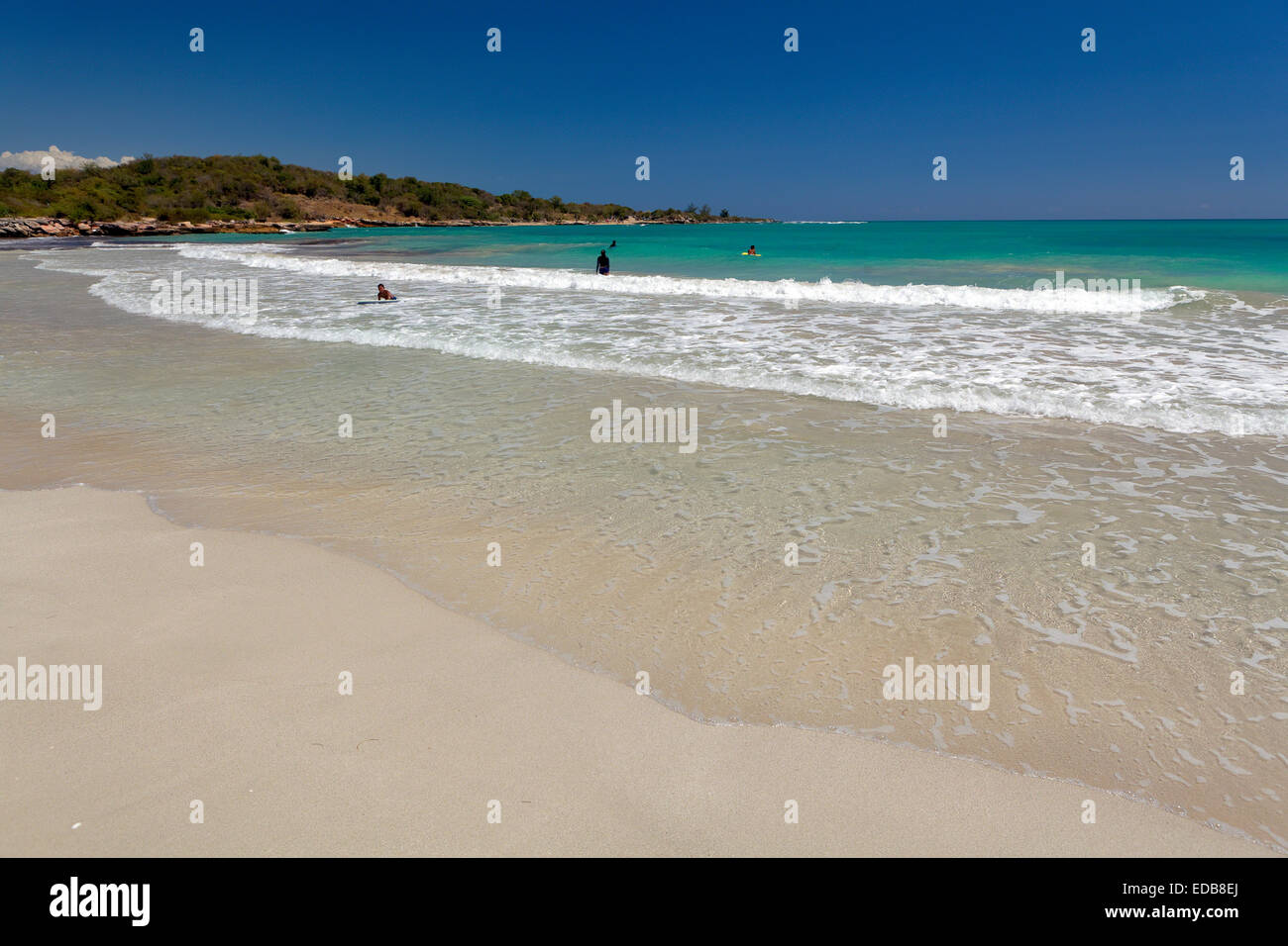 Gentle Waves, Atolladora Beach, Puerto Rico - Stock Image