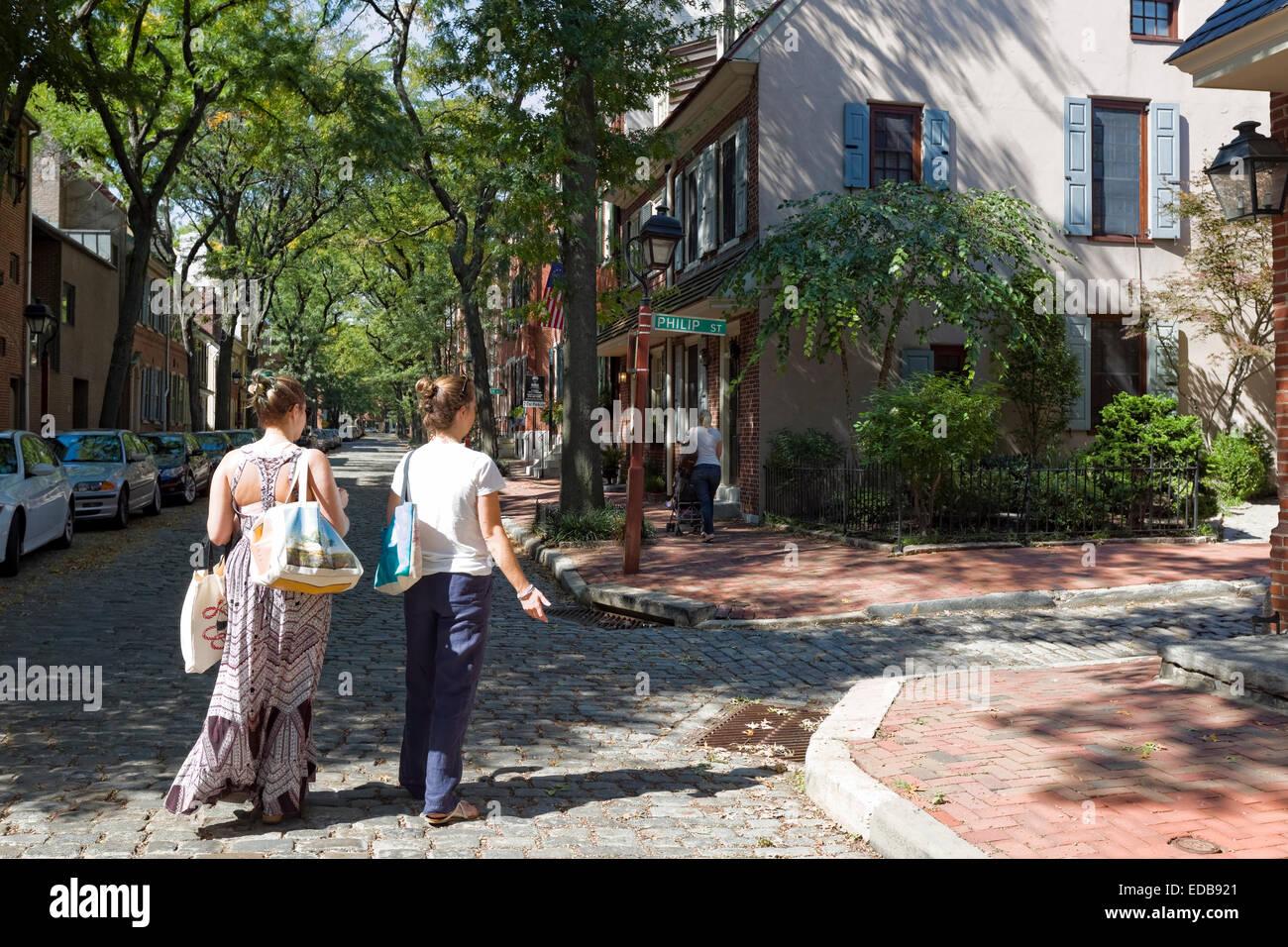 Historic Neighborhood, Philadelphia, Pennsylvania - Stock Image