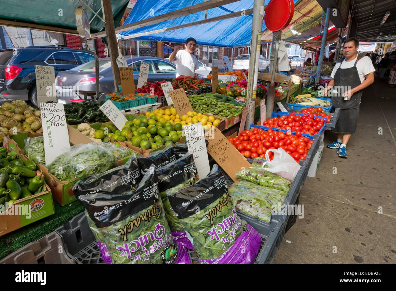 The South 9th Street Italian Market, Philadelphia, Pennsylvania - Stock Image