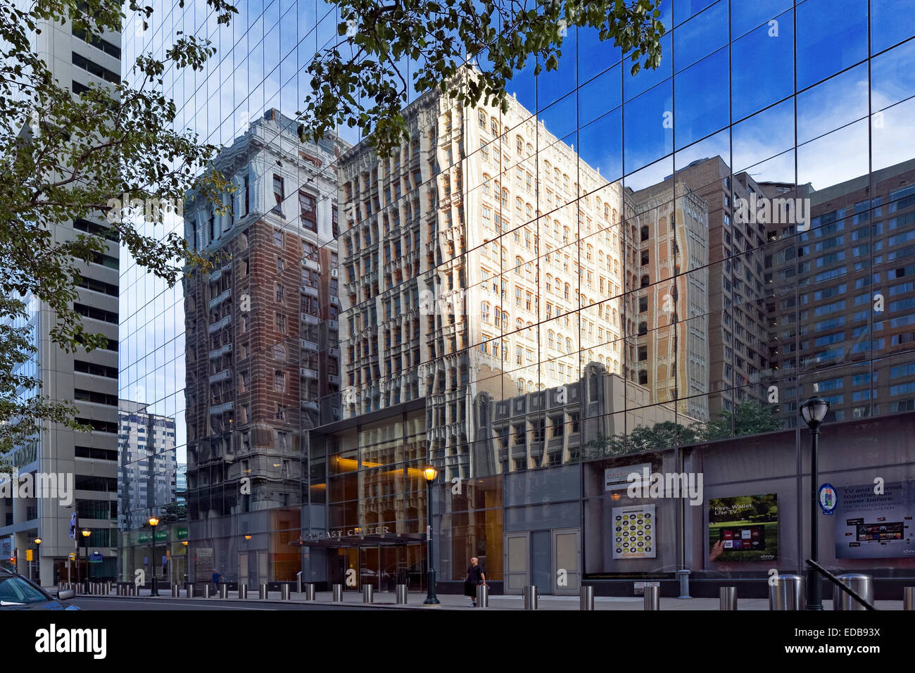 Office Building Reflections, Philadelphia, Pennsylvania - Stock Image