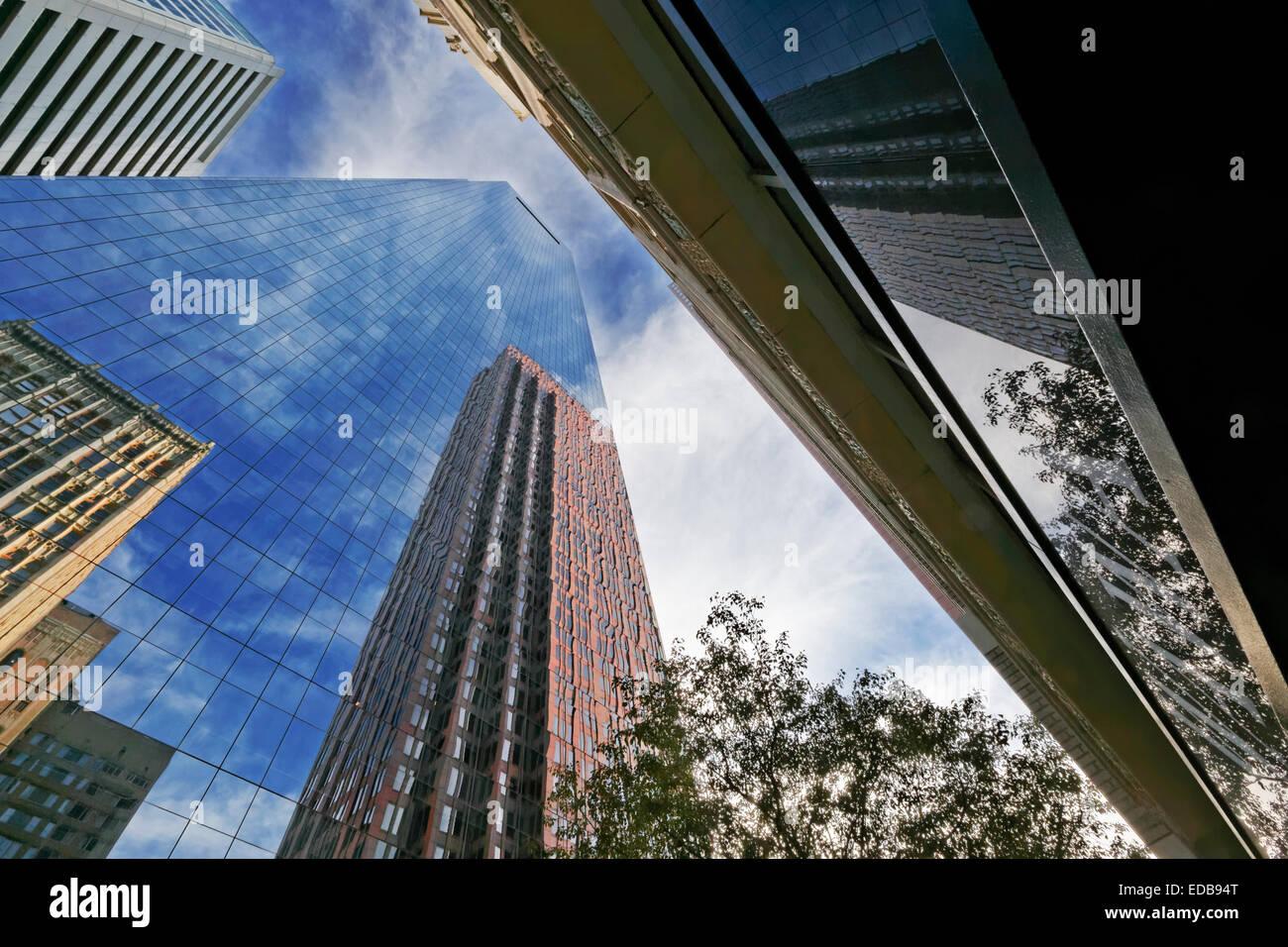 Office Building Reflections, Philadelphia, Pennsylvania - Stock Image