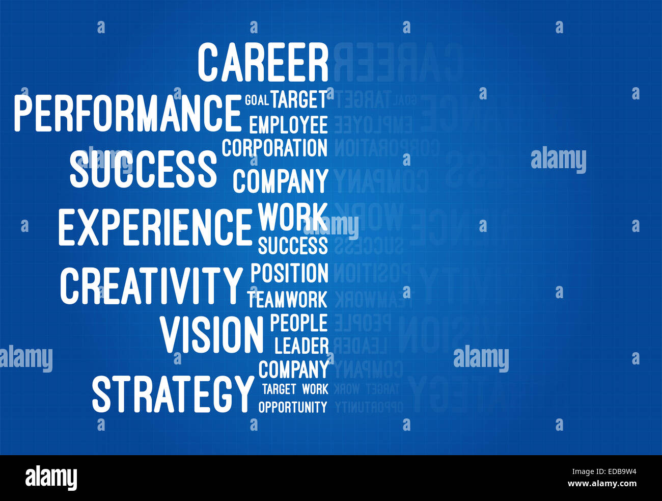 Business and career word cloud on blueprint stock photo 77081232 business and career word cloud on blueprint malvernweather Image collections