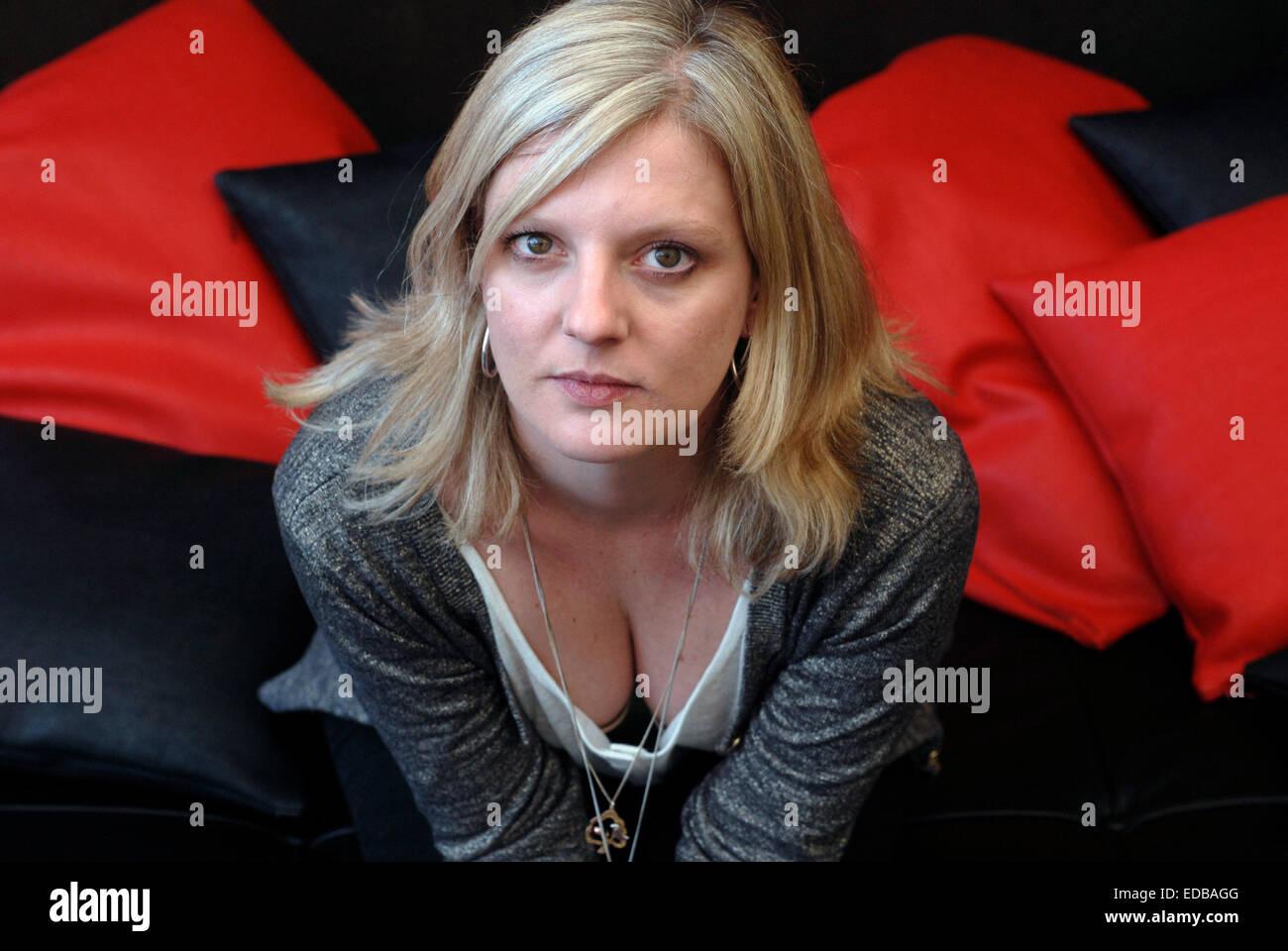 Delphine Bertholon, French Screenwriter, Author, Novelist. In Barcelona - Stock Image