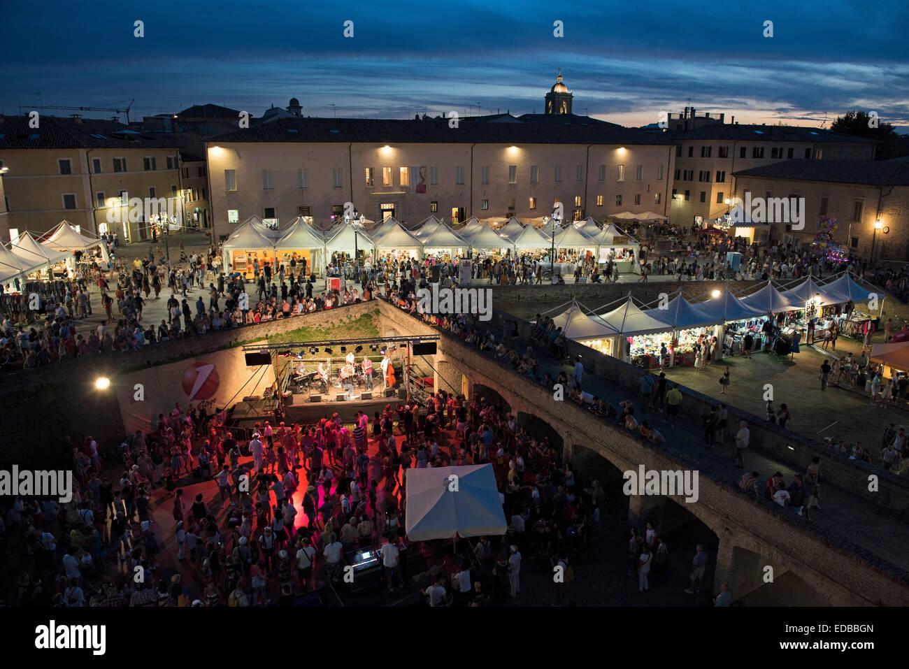 Summer Jamboree, Rock'n'Roll Festival, Rocca Roveresca, Senigallia, Province of Ancona, Marche, Italy - Stock Image