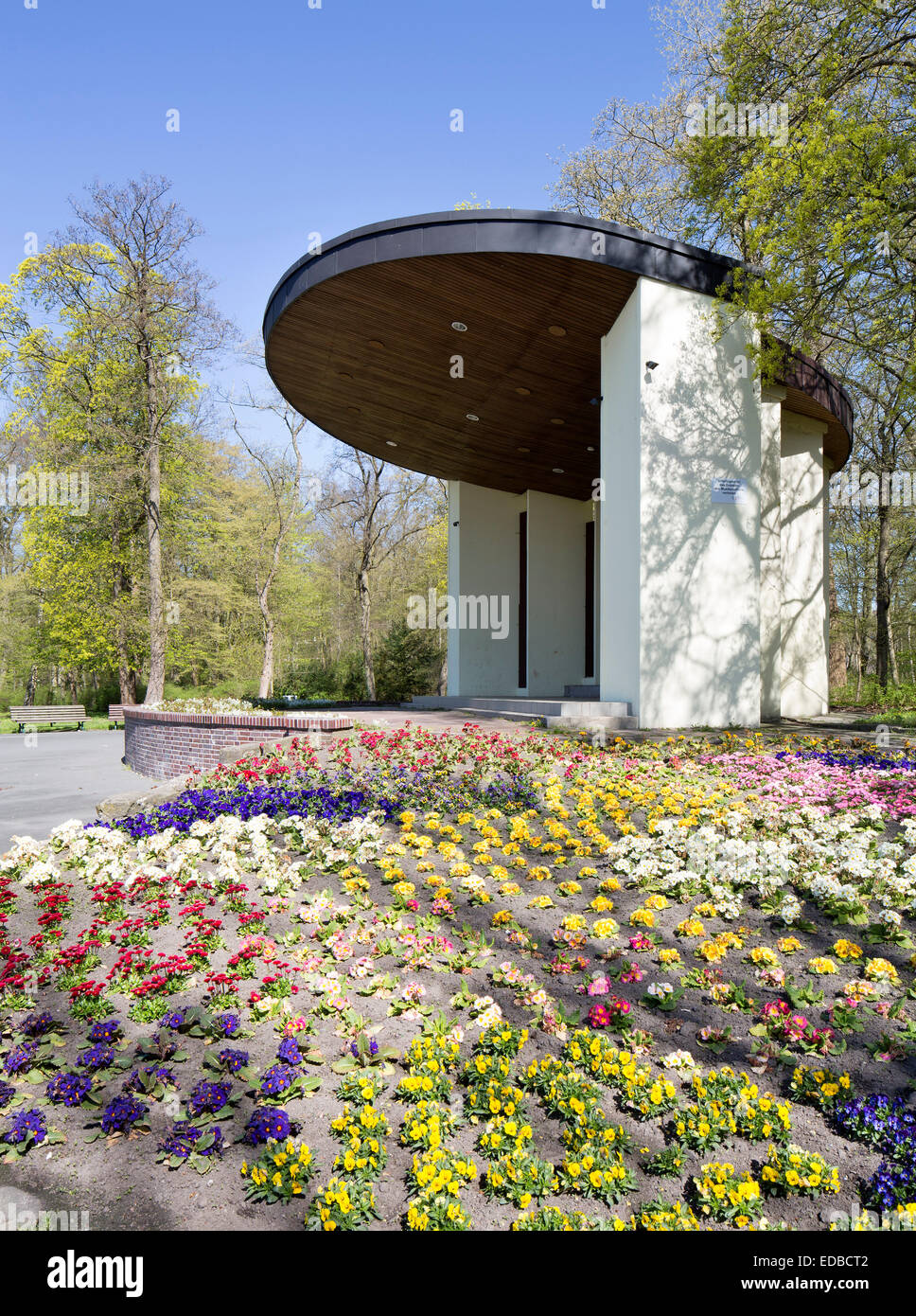Bandstand in the spa gardens, Wilhelmshaven, Lower Saxony, Germany - Stock Image