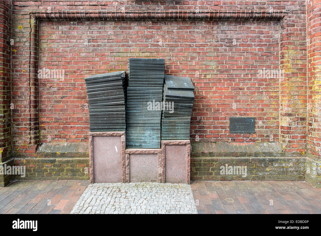 Memorial to the Murdered Jews in the Third Reich of the Jever, Jever, Frisia, Lower Saxony, Germany - Stock Image