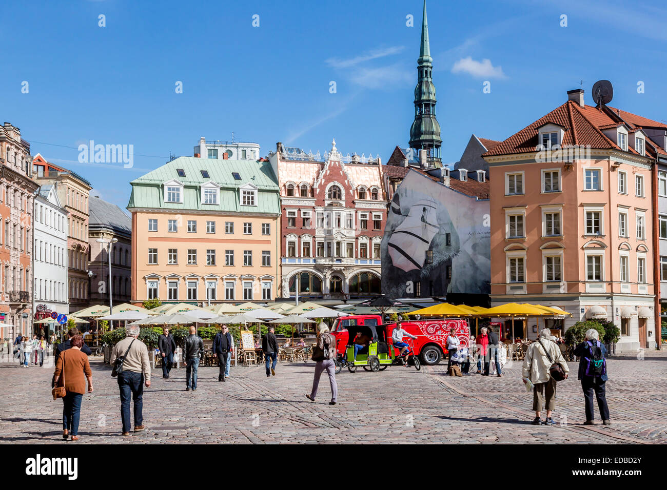 Cathedral Square in the historic centre, Riga, Latvia - Stock Image