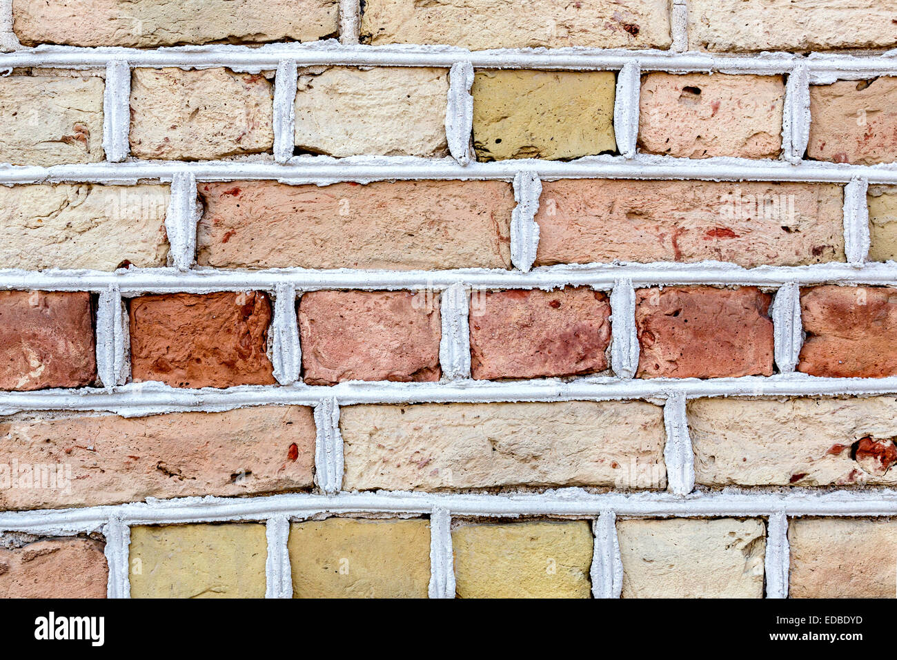 Brick wall, Riga, Latvia - Stock Image