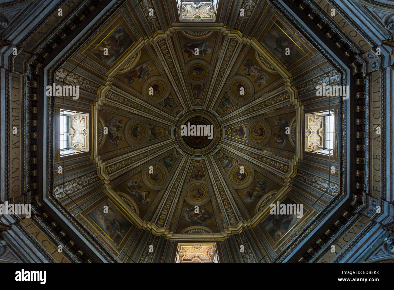Santa Maria di Loreto, Rome, Italy - Stock Image