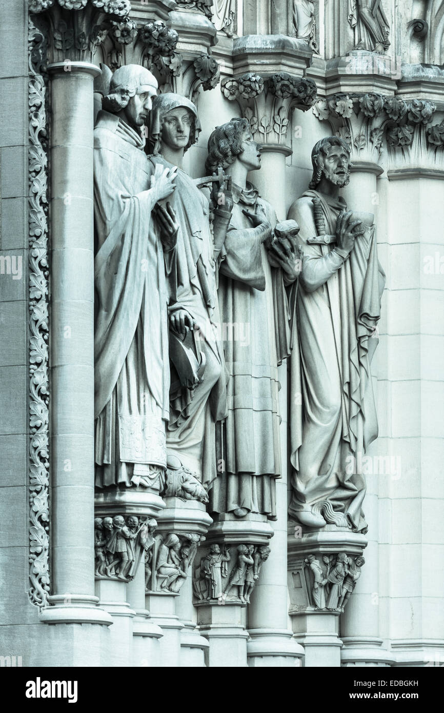 Detail from the Cathedral of St John the Divine - Stock Image