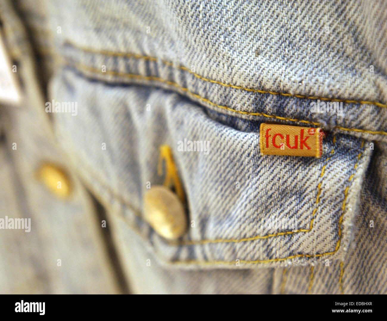 French Connection FCUK branded jeans - Stock Image