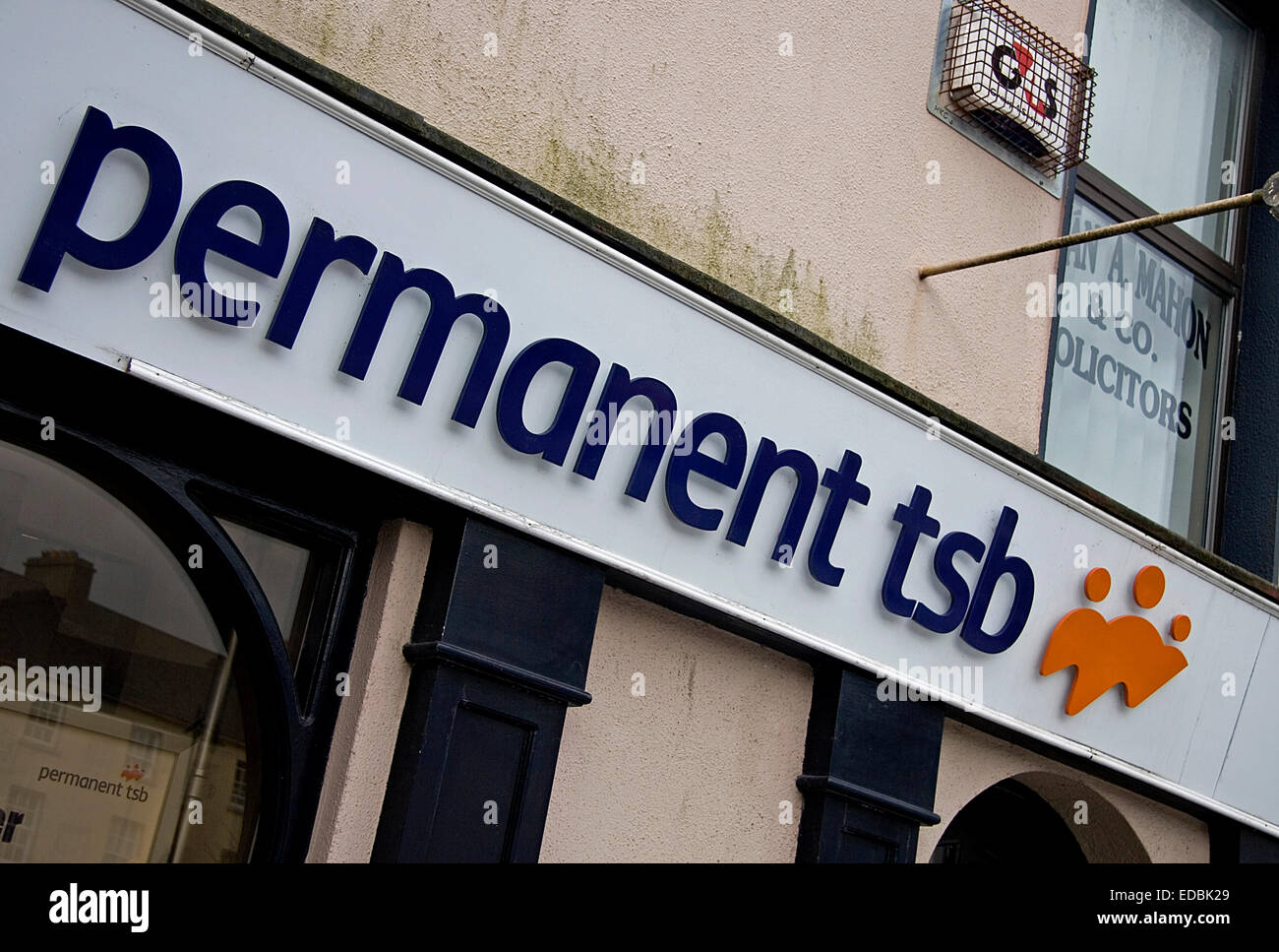 A Branch of Permanent TSB Bank, Roscommon, West of Ireland. - Stock Image