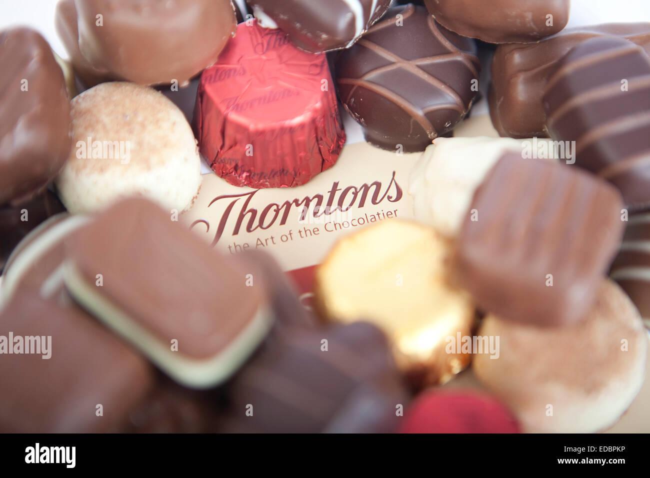 Illustrative image of Thorntons chocolate. - Stock Image